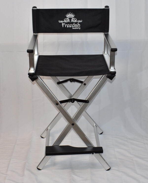 silver makeup artist chair