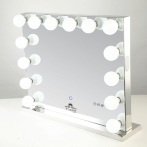 large frameless hollywood mirror