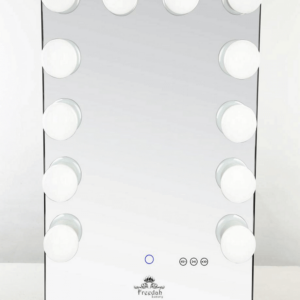 tall black Hollywood vanity mirror