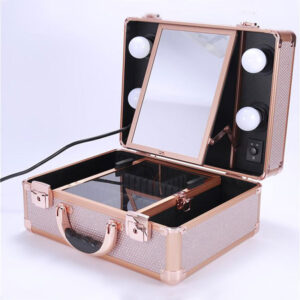 rose gold travel vanity