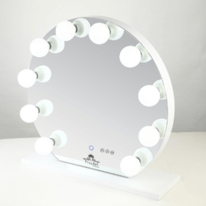 round frameless Hollywood Vanity mirror