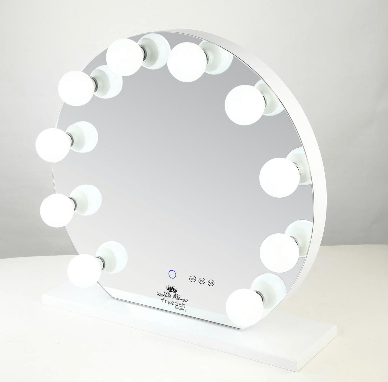 Vanity Mirror.Round Frameless Hollywood Vanity Mirror